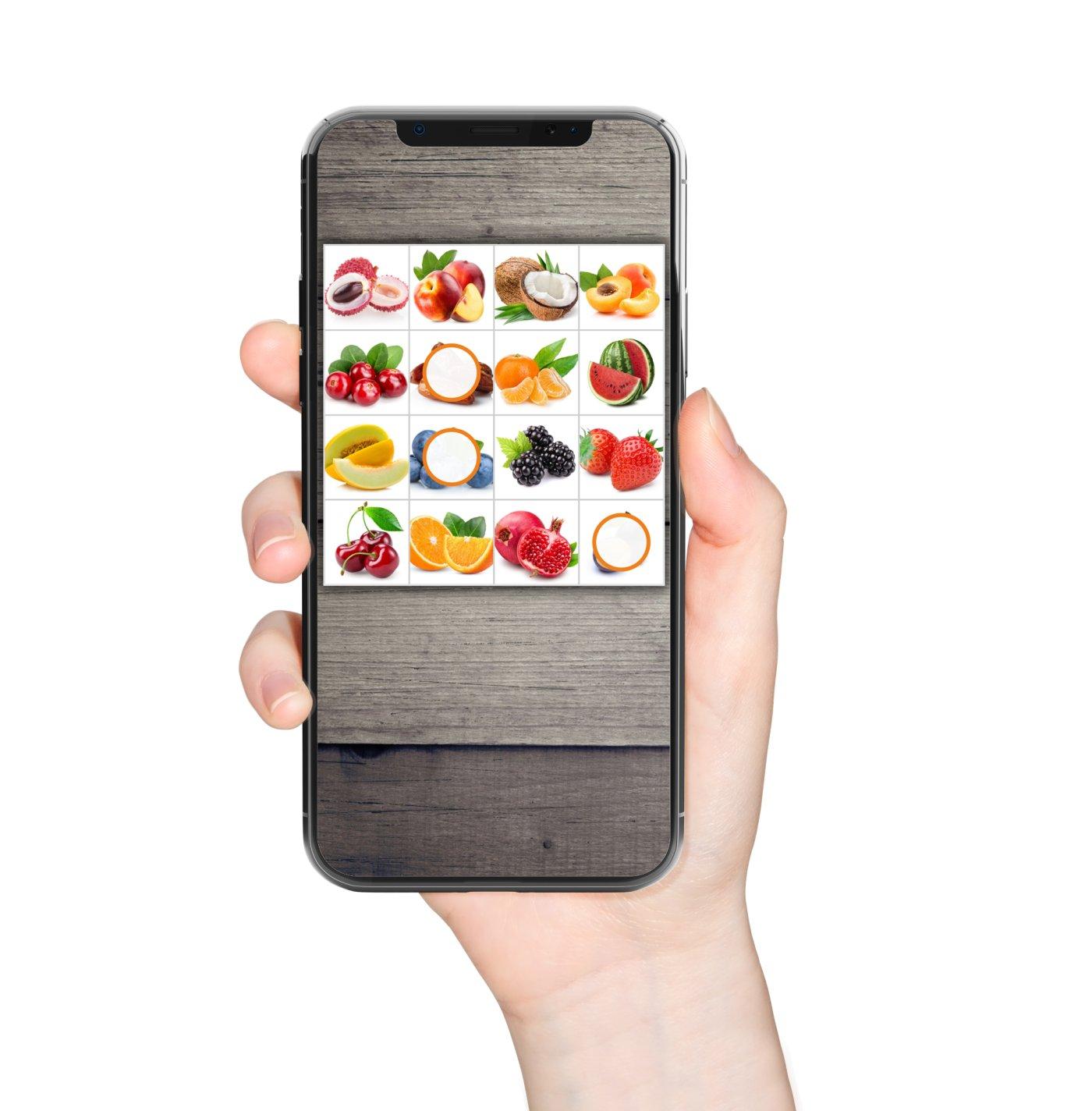 Bingo-Obst-Smartphone